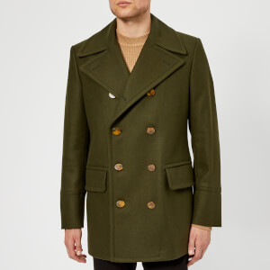 Vivienne Westwood Men's Classic Ecowool Melton Peacoat - Invisible Green