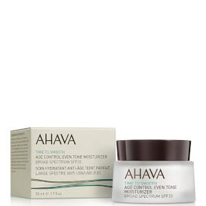 AHAVA Age Control Even Tone Moisturizer SPF 20 przeciwstarzeniowy krem nawilżająco-rozświetlający 50 ml