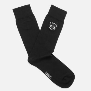 KENZO Men's Eye Embroidered Socks - Black