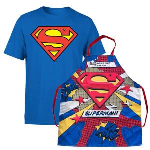 Superman T-Shirt und Schürze Bündel