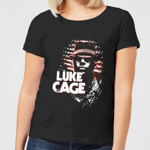 Marvel Knights Luke Cage Dames T-shirt - Zwart