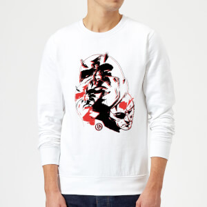 Marvel Knights Daredevil Layered Faces Sweatshirt - White