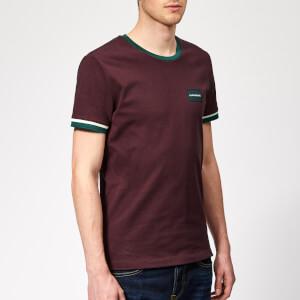 Calvin Klein Jeans Men's Contrasted Ringer Slim T-Shirt - Tawny Port