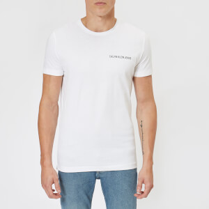 Calvin Klein Jeans Men's Chest Institutional Slim T-Shirt - Bright White