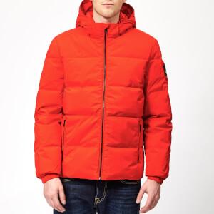 Calvin Klein Jeans Men's Hooded Down Jacket - Pumpkin Red