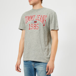 Tommy Jeans Men's TJM Collegiate Logo T-Shirt - Light Grey Heather