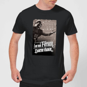 Star Wars Darth Vader I Am Your Father Open Arm Men's T-Shirt - Black