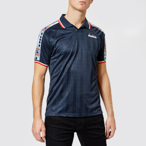 Diadora Men's Offside Short Sleeve T-Shirt - Blue Denim
