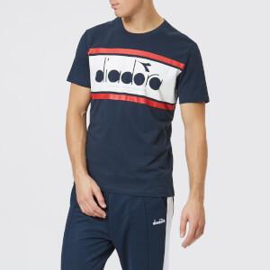 Diadora Men's Spectra Short Sleeve T-Shirt - Blue Denim/Optical White/Tomato