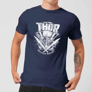 Marvel Thor Ragnarok Thor Hammer Logo Men's T-Shirt - Navy