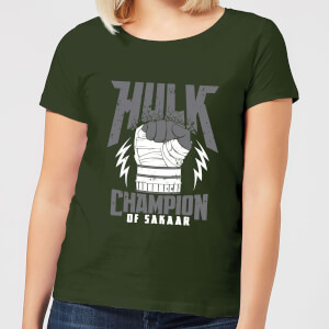 Marvel Thor Ragnarok Hulk Champion Women's T-Shirt - Forest Green