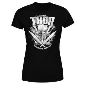 Marvel Thor Ragnarok Thor Hammer Logo Damen T-Shirt - Schwarz