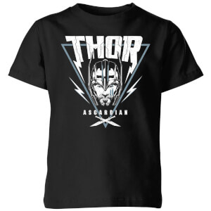 T-Shirt Enfant Marvel - Thor Ragnarok - Triangle Asgardien - Noir