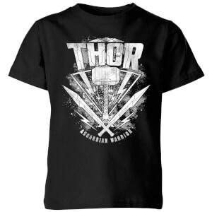 Marvel Thor Ragnarok Thor Hammer Logo Kids' T-Shirt - Black