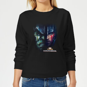 Marvel Thor Ragnarok Hulk Split Face Women's Sweatshirt - Black