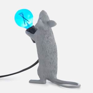 Seletti Standing Mouse Lamp - Grey: Image 3