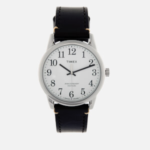 Timex Men's Easy Reader 40th Anniversary Special Edition Leather Strap Watch - Silver-Tone/Brown/Blue