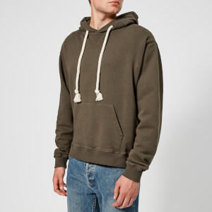 JW Anderson Men's Embroidered Hood Logo Hoodie - Khaki