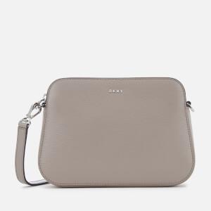 DKNY Women's Bryant Centre Zip Cross Body Bag - Warm Grey
