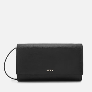 DKNY Women's Bryant Wallet on a String - Black/Gold