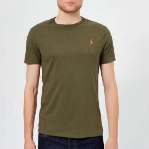 Polo Ralph Lauren Men's Basic Crew Neck Short Sleeve T-Shirt - Expedition Olive
