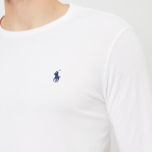 Polo Ralph Lauren Men's Basic Crew Neck Long Sleeve T-Shirt - White: Image 4