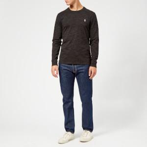 Polo Ralph Lauren Men's Basic Crew Neck Long Sleeve T-Shirt - Black Marl Heather: Image 3