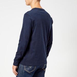 Polo Ralph Lauren Men's Basic Crew Neck Long Sleeve T-Shirt - Worth Navy Heather: Image 2