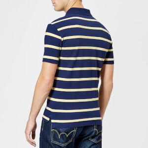 Polo Ralph Lauren Men's Stripe Short Sleeve Polo Shirt - Newport Navy/Artic Yellow: Image 2