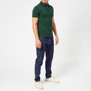 Polo Ralph Lauren Men's Slim Fit Short Sleeve Polo Shirt - College Green: Image 3