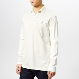 Polo Ralph Lauren Men's Long Sleeve Rugby Shirt - Deckwash White
