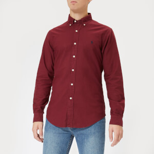 Polo Ralph Lauren Men's Garment Dyed Slim Fit Shirt - Classic Wine