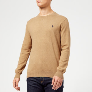 Polo Ralph Lauren Men's Crew Neck Pima Knitted Jumper - Brown Heather