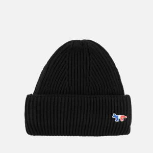 Maison Kitsune Women's Ribbed Hat - Black