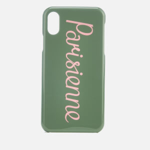 Maison Kitsuné Women's Parisienne iPhone Case - Khaki