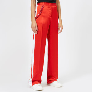 MSGM Women's Wide Leg Pants - Red