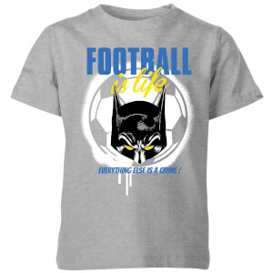 DC Batman Football Is Life Kids' T-Shirt - Grey