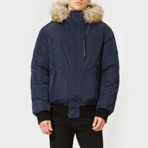 Mackage Men's Florian Down Bomber Jacket - Ink Natural