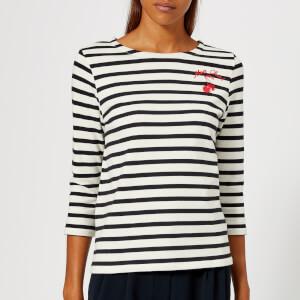 Whistles Women's Mon Cheri Embroidered Stripe Top - Multicolour
