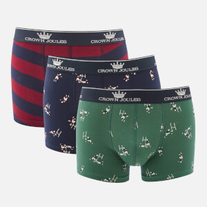 Joules Men's Crown Joules 3 Pack Boxer Shorts - Tackle