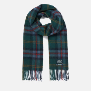 Joules Men's Tytherton Wool Scarf - Blue Multi Check