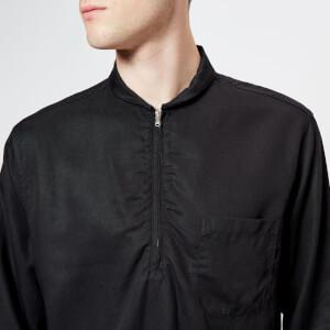 Our Legacy Men's Shawl Zip Collar Shirt - Black