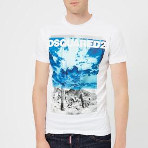 Dsquared2 Men's Dan Fit Large Logo T-Shirt - White
