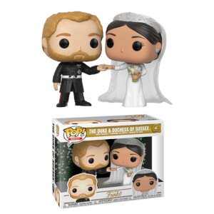 Lot de 2 Figurines Pop! Prince Harry & Megan Markle - Famille Royale