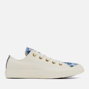 Converse Women's Chuck Taylor All Star Ox Trainers - Egret/Provence Purple