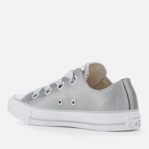 Converse Women's Chuck Taylor All Star Big Eyelets Ox Trainers - Metallic Silver/Silver/White: Image 2