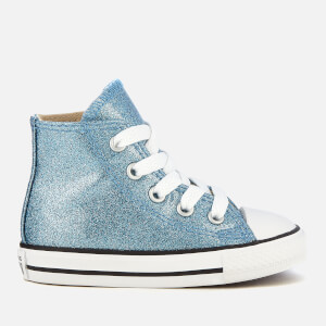4faaf1570e34 Converse Toddlers  Chuck Taylor All Star Hi-Top Trainers - Light  Blue Natural