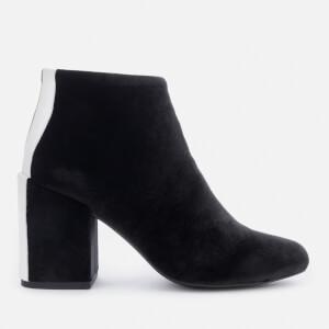 Senso Women's Jensen IV Velvet Heeled Ankle Boots - Ebony