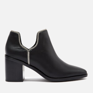 Senso Women's Huntley I Matte Leather Heeled Ankle Boots - Ebony
