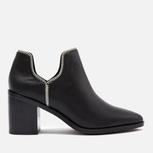 Senso Women's Huntley I Matte Leather Heeled Ankle Boots - Ebony